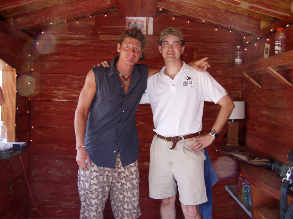Indoor Oceans Kent Morrell with ABC's Extreme Makeover: Home Edition's Ty Pennington