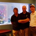 Indoor Oceans Founder, Kent Morrell with technicians