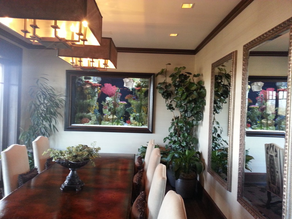 Custom board room saltwater aquarium