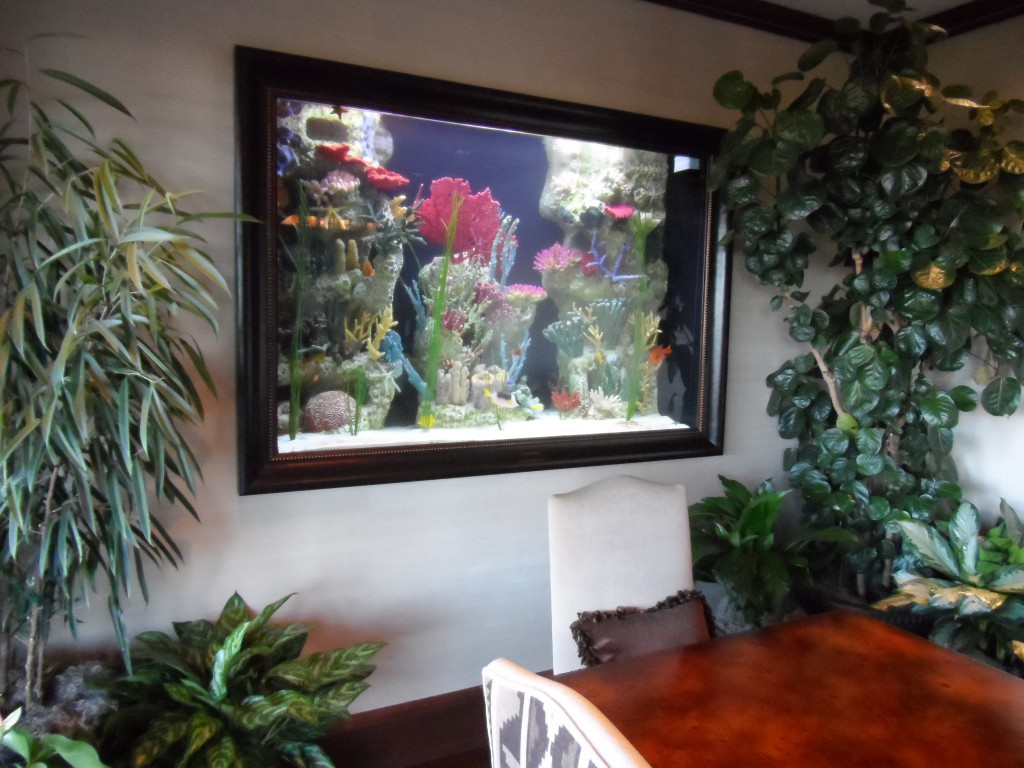 Custom look through saltwater aquarium