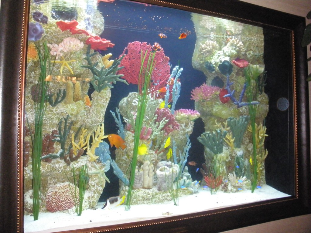 Beautiful artificial coral tank by Indoor Oceans