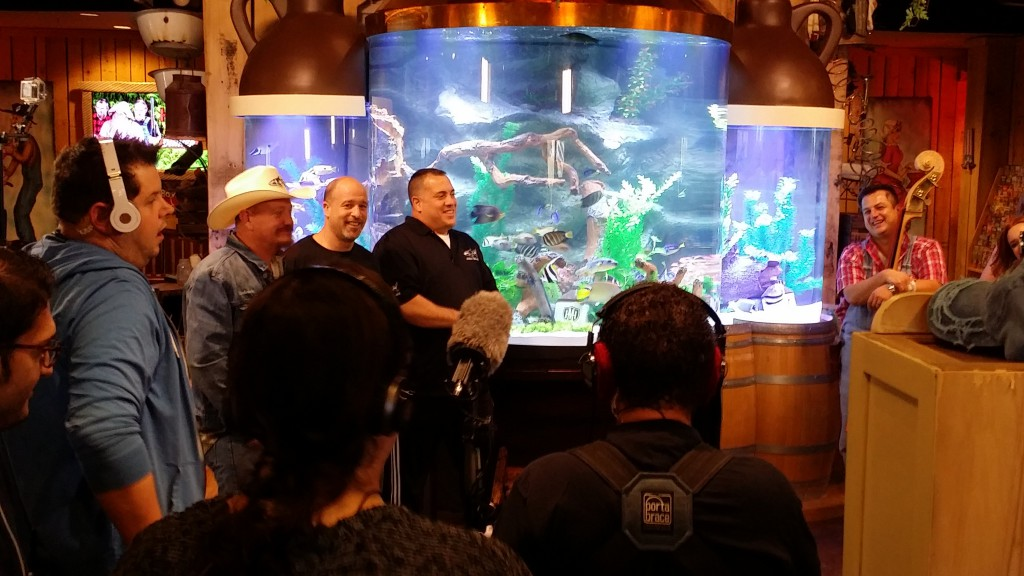 "Indoor Oceans behind the scenes with Redneck, Brett and Wayde of ATM for taping of Animal Planet's ""Tanked"""