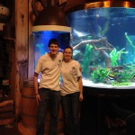 Joshua (L) and Adrienne (R) were part of the Indoor Oceans of Knoxville team that assisted with the tank installation.